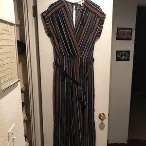 Monteau Striped Jumpsuit NWT